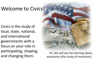 Welcome to Civics!