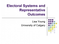 Electoral Systems and Representative Outcomes