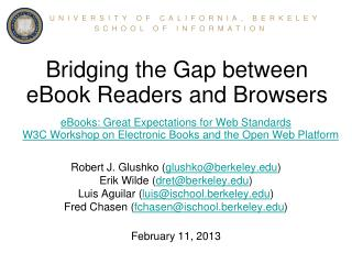Bridging the Gap between eBook Readers and Browsers