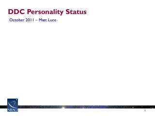 DDC Personality Status