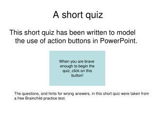 A short quiz