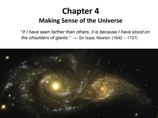 Chapter 4 Making Sense of the Universe