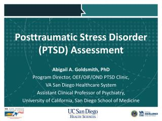 Posttraumatic Stress Disorder (PTSD) Assessment