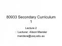 80933 Secondary Curriculum 1