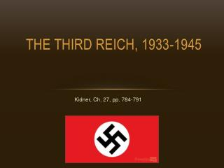 The Third Reich, 1933-1945