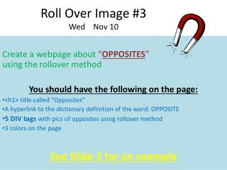 Roll Over Image #3 Wed    Nov 10