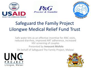 Safeguard the Family Project Lilongwe Medical Relief Fund Trust