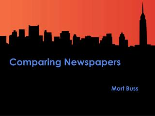 Comparing Newspapers