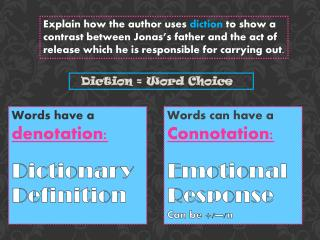 Diction = Word Choice
