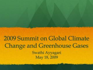2009 Summit on Global Climate Change and Greenhouse Gases