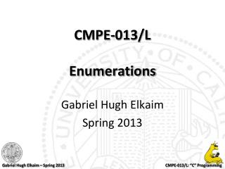 CMPE-013/L Enumerations
