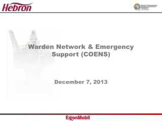 Warden Network & Emergency Support (COENS)