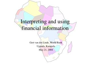 Interpreting and using financial information