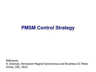 PMSM Control Strategy