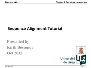 Sequence Alignment Tutorial