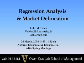 Regression Analysis  Market Delineation