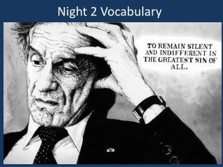 Night 2 Vocabulary