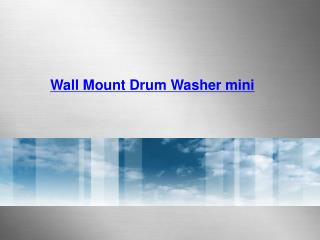 Wall Mount Drum Washer mini