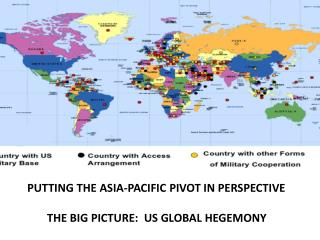 PUTTING THE ASIA-PACIFIC PIVOT IN PERSPECTIVE         THE BIG PICTURE:  US GLOBAL HEGEMONY
