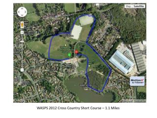 WASPS 2012 Cross Country Short Course – 1.1 Miles