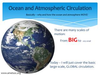 Ocean and Atmospheric Circulation
