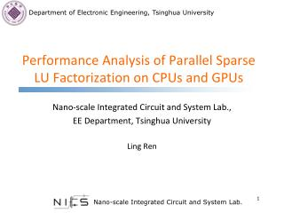 Performance  Analysis  of Parallel  Sparse LU  Factorization on CPUs and GPUs