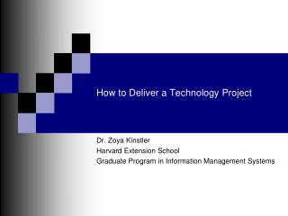 How to Deliver a Technology Project