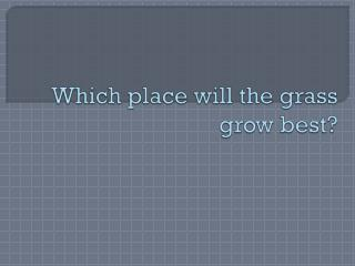 Which place will the grass grow best?