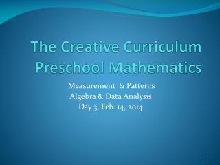 The Creative Curriculum Preschool Mathematics