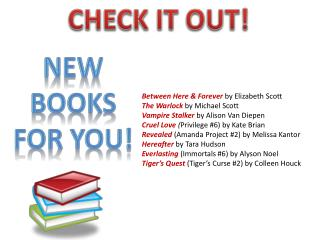NEW BOOKS For you!