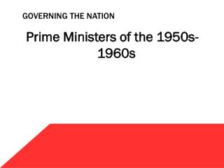 Governing the nation