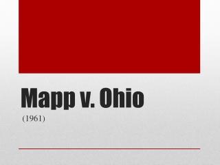 Mapp v. Ohio