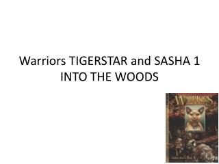 Warriors TIGERSTAR and SASHA 1 INTO THE WOODS