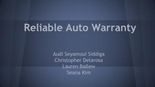 Reliable Auto Warranty