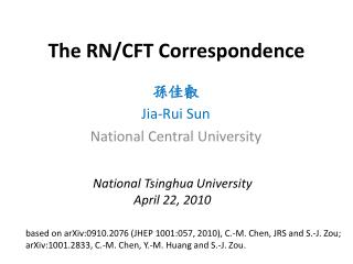 The RN/CFT Correspondence