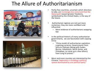 The Allure of Authoritarianism