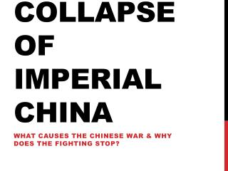 Collapse of imperial china