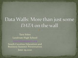 Data Walls: More than just some  DATA  on the wall