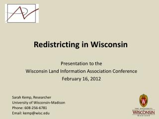 Redistricting in Wisconsin