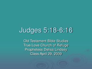 Judges 5:18-6:16