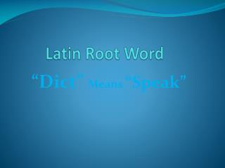 Latin Root Word