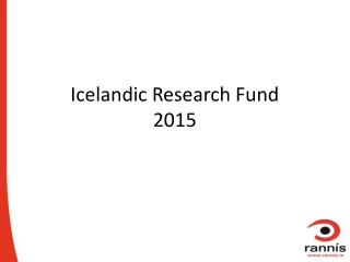 Icelandic Research Fund 2015