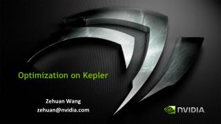 Optimization on  Kepler