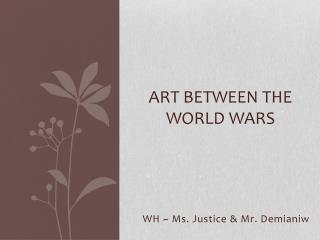 Art between the world wars