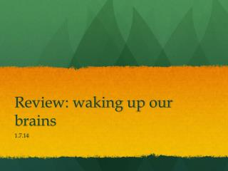Review: waking up our brains