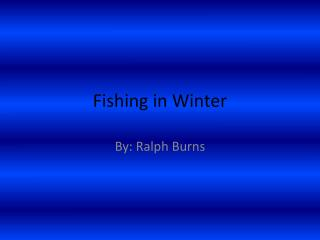 Fishing in Winter