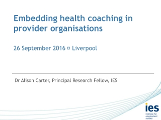 COACHING IN ORGANISATIONS  - an introduction