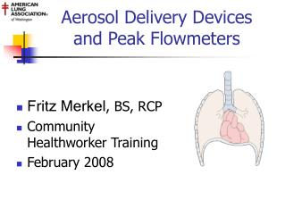 Aerosol Delivery Devices  and Peak Flowmeters