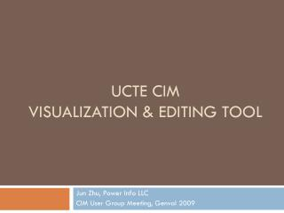 UCTE CIM Visualization & Editing Tool