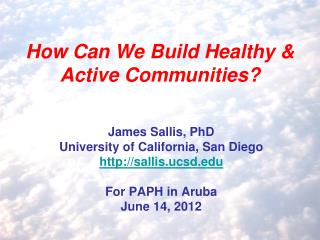 How Can We Build Healthy & Active Communities?